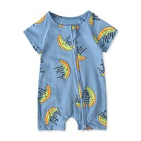 Boys Rompers Baby Bodysuits Clothes Infant Jumpsuit Onesies Cotton Summer Short Sleeve Newborn One Piece Clothing Cartoon B6178