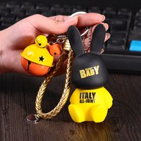 Anahtarlık Saç Sevimli Emaye Topu Tavşan Kolye Çan Anahtarlık Karikatür LED Kamera Küçük Hediye BZ