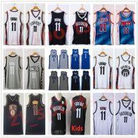 Genähte Männer 2021 Stadt Schwarz Blau Irving 11 Kyrie Jersey Basketball 1 College NCAA Hemden Weiß Graue Farbe