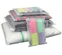 Resealable Clear Packaging Bags Acid Etch Plastic Ziplock shirts sock underwear Organizer bag 16 sizes