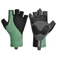 Cycling Gloves Boodun Men Women Half Finger Shockproof Summer Breathable Road Bike Anti-Slip Elastic Bicycle MTB Glove