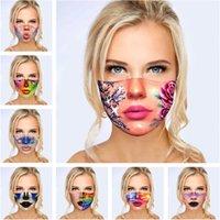Designer 3D Designer Maschera Donne Donne Girls Divertente Facciale Stampato Anti-nebbia Anti-nebbia Maschere Anti-FOGGIO Lavabile in cotone Durabile Durable Outdoor Cover per bocca FaceMask