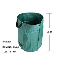 Hanging Baskets Garbage Storage Bag Portable Collapsible -Up Garden Leaf Trash Can Flowers And Grass Collection Bin For Camping