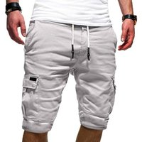 Gym Clothing 2021 Summer Men's Outdoor Sports Running Fitness Multi-pocket Overalls Shorts Casual Five-point Pants