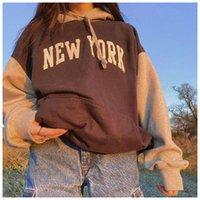 LISM Letter Printing New York Oversized Sweatshirt Streetwear Winter Boys Women Sweatshirts Fashion Pullover Vintage Hoodies