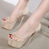 Dress Shoes Women Summer Pumps Thin High Heels Stiletto Woman Peep Toe Platform Sexy Wedding Sandals Female Mujer Sapato FemininoD1046