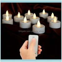 Décor Home & Garden 10Pcs Battery Votive With Remote Control Led Candles Small Lights Party Electronic Festive Decor Drop Delivery 2021 Gi0G