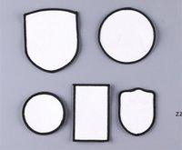 Tecido Acessórios Sublimação Chapéu Patches Térmica Transferência Chapéus Remendo Branco Branco Em branco Pano Acessório Square Redondo DIY Decor Presente HWF8911