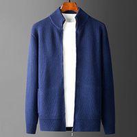 Men's Sweaters Zipper Cardigan Mens Luxury Solid Color Turtleneck Casual Male Fashion Slim Autumn Winter Man