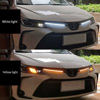 2pc Car LED DRL Daytime Running Light Strip Waterproof 12V For Car Headlight Sequential Turn Signal Day Driving Lamp Accessories