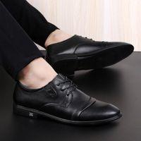 2020 Echtes Leder Herrenschuhe Hohe Qualität Formale Business Schuhe Casual Oxford Kleid Männer Wohnungen Mode A8WU #