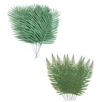 Fleurs décoratives Couronnes 20 pcs feuilles artificielles plantes vertes verdure pour arrangement décoration de mariage Feuilles Feuilles: 10 Palm TR