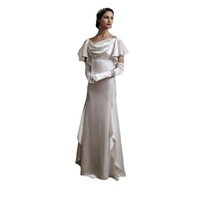 noble White Wedding Dresses empire charmeuse Ruffle Bridal Gowns Gorgeous Off Shoulder Floor Length Women Marriage Brides Dress Vestido de novia Custom Made