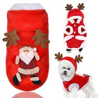 Dog Apparel Pet Christmas Decoration Soft Clothes Winter Autumn Warm Coat High-grade Hoodie Clothing For Small Dogs