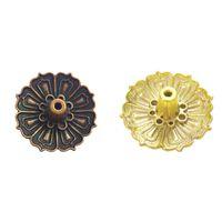 Lotus çiçekler desen tütsü brülör sopa tutucu tütsü taban fişi ev dekorasyon Y1138