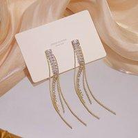 Mode Tassel Lange Ohrringe für Frauen Designer Kreativität Luxus Schmuck Micro-Inlaid Zirkon Erweitertes S925 Nadelstock