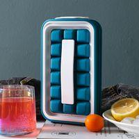 Bar Produtos Sorvete Cube Bandeja 36 Grades DIY Mold de Silicone Cozinha Maker Chaleira Portátil Refrigerador Saco De Armazenamento Recipiente GWA8571