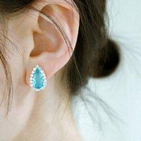 Womens Stud Earrings Trendy Water Drop Designer Jewelry for Ladies Party Wedding Accessory New Teardrop Earing Bijoux Girls Gift
