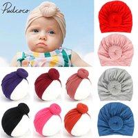 2019 accesorios para bebés para niños recién nacidos niños bebé niña niño turbante algodón gorro sombrero invierno gorra nudo sólido suave hospital tapas