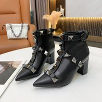 womens shoes designer boots luxury heels winter boot woman booties heel 100% leather women Knight Work Safety Motorcycle Rain Fashion Snow Fast quality 1010