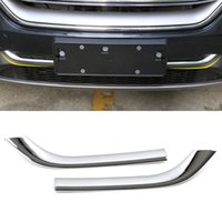 Car Accessories Molding Front Grilles Grills Chrome Pad Trim Sticker Cover Frame Exterior Decoration for Ford Edge 2015-2019