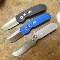 In Stock!! 3 Colors Automatic Tactical Folding Knife 154CM Satin Steel Blade Aviation Aluminum Handle EDC Pocket Folder Knives