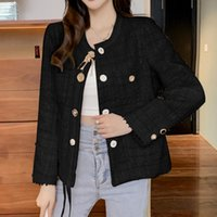 Women's Jackets Small Fragrance Thin Top 2021 Autumn Korean Tweed Tassel Short Casual Temperament High Quality Veste Femme Chaquetas