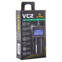 XTAR VC2 CHAGER NIMH Caricabatterie BATTERY LCD per 18650 18350 26650 21700 Batterie agli ioni di litio