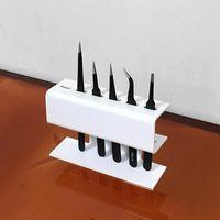 Storage Boxes & Bins 50pcs Acrylic Eyelash Extension Makeup Tweezers Display Holder Durable Convenient Tool Stand Shelf Case
