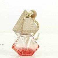 Araba Difüzör Şişe Parfüm Küp Kolye Asılı Hava Spreyi Aromaterapi Cam Piramit Kapak Elmas Şekilli Poligon DWE10229