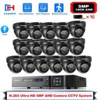 لايت 5in1 CCTV DVR HD 1080P 16PCS TVI Security Camera كشف PIR iP66 في الهواء الطلق نظام مراقبة الفيديو المنزلية مجموعة أطقم لاسلكية