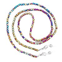 Pendant Necklaces Fashion Beaded Crystal Eyeglass Chain Glass Seed Bead Strap Sunglasses Holder Necklace Eyewear Retainer Lanyard