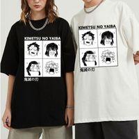 Men's T-Shirts Unisex Graphic Tees Manga Fashion T-Shirt Kimetsu No Yaiba Summer Tops