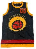 Schiff aus US Kel Mitchell # 00 All That Basketball Jersey Männer genähte schwarze Größe S-3XL-Trikots