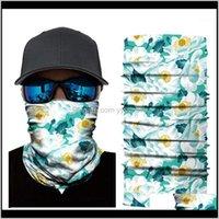 Cycling Caps Masks 3D Scarf Neck Bandana Warmer Gaiter Half Face Mask Men Women Head Bandanas Shield Headband Headwear Drop1 V5Gqe Tmkwg