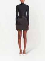 Femmes Shorts Jupes avec Bgas Budge Zippers pour Lady Ceintures Design Pantalon court Pantalon Slim Style De style Régler la jupe