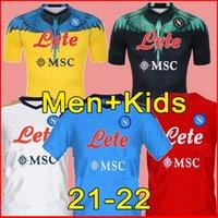 21 22 NAPOLI Soccer Jerseys Napoli Camicia da calcio 2021 2022 Osimhen Koulibaly Lozano Camiseta de fútbol Insigne Maradona Maillot Piede Mertens Matteo Politano Camisa