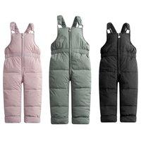 Çocuk Kış Sıcak Tulum Kız Erkek Kış Kalın Pantolon Pamuk Dolum Kids Tulum Kızlar Için 1-5 Yıl Çocuk Tulum 1152 X2