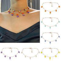 Women Rice Bead Necklace Beaded Jewelry Colorful Daisy Choker Bohemian Handmade Women'S Fashion Beach Ethnic Boho Chokers