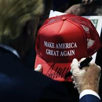 Malla de verano Hacer america nuevamente imprimir gorras de camionero Donald Trump Men Mujeres de alta calidad Bill Snapback Sombreros transpirable