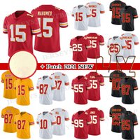 """15 Patrick Mahomes 25 CLYDE Edwards-Heraire Football Jersey Travis Kelce Kansas """"Chefes"""" Chefes """"Tyreek Hill Stitched"""