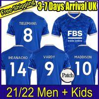 Erkekler + Çocuklar 21 22 Tayland Leicester Futbol Forması Ev Şehri VARDY Maddison Tielemans Ndidi Uzakta Futbol Gömlek