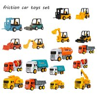 1 Set Truck Toys Monstere Car Toy Diecast Inertia Machines Early Education Toys Excavator Engineering Vehicle Model Kids Gifts