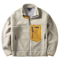 파타고니아 양고기 벨벳 자켓 코트 탑 후드 디자이너 면화 태그와 로고가있는 고품질 빠른 항목 파리 망 커플 재킷 Unisex Streetwear