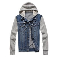 Sale Designers Denim Jacket Mens Hooded Sportswear Outdoors Casual Fashion Jeans Jackets Hoodies Cowboy Menss Jacket and Coat Plus Size 5XL