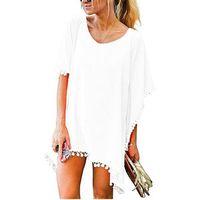 2021 صيف جديد أزياء المرأة شرابة عارضة فضفاض البلوزات قصيرة الأكمام س الرقبة الصلبة القمصان قمم السيدات الملابس بلوزة 12 اللون