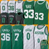 """Jayson 0 Tatum Jersey Jaylen Marcus Brown Akıllı Basketbol Formaları Gerileme Larry 33 Kuş Şehri """"Edition"""" Boston """"Celtics"""" Jersey ZXCBAS"""