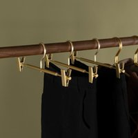 Hangers & Racks Ly Aluminium Alloy Trouser Hanger With Clip Multifunction Portable Not Easy Rust Fade Anti Slip For Towels Dress