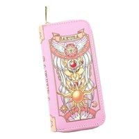 Ankunft Cartesira Sakura Karten-Captor-Geldbörse des Clows Long Rosa und Rotwein Farbe Frauen Geldbörse frei