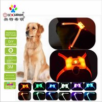 Dog Collars & Leashes CC Simon Dogled Unique Style Paws Safety Led Pet Light Up Collar Night Puppy Lead Pets Vest